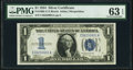 Fr. 1606 $1 1934 Silver Certificate. PMG Choice Uncirculated 63 EPQ