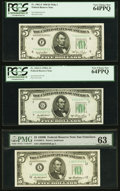 Fr. 1961-F $5 1950 Wide I Federal Reserve Note. PCGS Very Choice New 64PPQ; Fr. 1962-G $5 1950A Federal Reserve Note. PC...