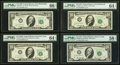 Small Size:Federal Reserve Notes, Fr. 2018-C* $10 1969 Federal Reserve Star Note. PMG Gem Uncirculated 66 EPQ;. Fr. 2020-B $10 1969B Federal Reserve Note. P... (Total: 12 notes)