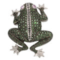 Estate Jewelry:Brooches - Pins, Multi-Stone, Colored Diamond, White Gold Enhancer-Brooch. ...