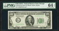 Fr. 2155-G $100 1934C Federal Reserve Note. PMG Choice Uncirculated 64 EPQ
