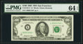 Low Serial Number 1540 Fr. 2164-L* $100 1969 Federal Reserve Note. PMG Choice Uncirculated 64 EPQ