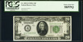 Fr. 2051-D $20 1928A Federal Reserve Note. PCGS Choice About New 58PPQ