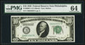 Fr. 2000-C $10 1928 Federal Reserve Note. PMG Choice Uncirculated 64