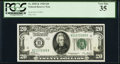 Fr. 2050-K $20 1928 Federal Reserve Note. PCGS Very Fine 35