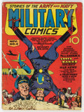 Golden Age (1938-1955):War, Military Comics #4 (Quality, 1941) Condition: GD/VG....