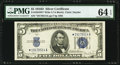 Fr. 1654* $5 1934D Wide I Silver Certificate. PMG Choice Uncirculated 64 EPQ