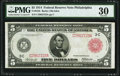 Fr. 834b $5 1914 Red Seal Federal Reserve Note PMG Very Fine 30