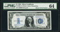 Low Binary Serial Number 110 Fr. 1606 $1 1934 Silver Certificate. PMG Choice Uncirculated 64