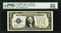 Fr. 1602* $1 1928B Silver Certificate. PMG About Uncirculated 55