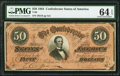 T66 $50 1864 PF-8 Cr. 499 PMG Choice Uncirculated 64 EPQ