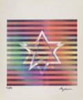 Prints & Multiples, Yaacov Agam (b. 1928). Two Stars (Small), late 20th century. Agamograph. 6-1/2 x 5-3/8 inches (16.5 x 13.7 cm). Ed. 55/9...