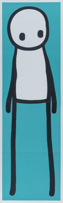 Stik (20th century) Standing Figure (Teal), 2015 Offset lithograph in colors on paper, with hardcove