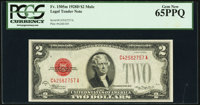 Fr. 1505 $2 1928D Mule Legal Tender Note. PCGS Gem New 65PPQ
