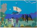 Prints & Multiples, Romare Howard Bearden (1911-1988). Siren's Song, from The Odysseus Suite, 1979. Serigraph in colors on Arches 88 pap...