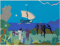Romare Howard Bearden (1911-1988) Siren's Song, from The Odysseus Suite, 1979 Serigraph i
