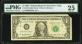 Fancy Low Serial Number 2000 Fr. 1918-B $1 1993 Federal Reserve Note. PMG Very Fine 25