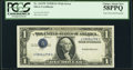 Inverted Third Printing Error Fr. 1613W $1 1935D Wide Silver Certificate. PCGS Choice About New 58PPQ