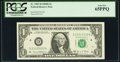 Radar Serial Number 23333332 Fr. 1907-D $1 1969D Federal Reserve Note. PCGS Gem New 65PPQ