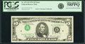Inverted Third Printing Error Fr. 1973-H $5 1974 Federal Reserve Note. PCGS Choice About New 58PPQ