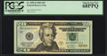 Fr. 2089-B $20 2004 Federal Reserve Note. PCGS Superb Gem New 68PPQ