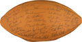 Football Collectibles:Balls, 1961 Green Bay Packers Team Signed Football - Amazing Near Perfect Example From Lombardi's 1st Championship! ...