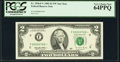 Low Serial Number 760 Fr. 1936-F* $2 1995 Federal Reserve Note. PCGS Very Choice New 64PPQ