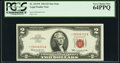 Low Serial Number 6333 Fr. 1513* $2 1963 Legal Tender Note. PCGS Very Choice New 64PPQ