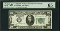 Fr. 2050-G $20 1928 Federal Reserve Note. PMG Gem Uncirculated 65 EPQ