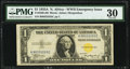 Small Size:World War II Emergency Notes, Fancy Serial Number 99333333 Fr. 2306 $1 1935A North Africa Silver Certificate. PMG Very Fine 30.. ...