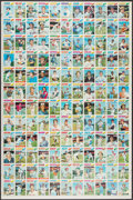 Baseball Cards:Other, 1977 Topps Baseball Uncut Sheet With 132 Cards - Ryan, Brett, Carter, Morgan and Others. ...