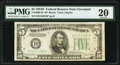 Fr. 1960-D* $5 1934D Federal Reserve Note. PMG Very Fine 20