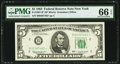 Fr. 1967-B* $5 1963 Federal Reserve Note. PMG Gem Uncirculated 66 EPQ