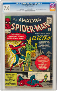 The Amazing Spider-Man #9 (Marvel, 1964) CGC FN/VF 7.0 Off-white pages