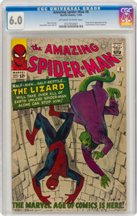 The Amazing Spider-Man #6 (Marvel, 1963) CGC FN 6.0 Off-white to white pages