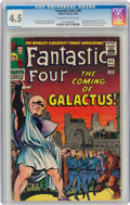 Silver Age (1956-1969):Superhero, Fantastic Four #48 (Marvel, 1966) CGC VG+ 4.5 Off-white to white pages....