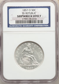 Four-Piece Lot of Seated Half Dollars, S.S. Republic -- Shipwreck Effect -- NGC. The lot includes: 1856-O SS R... (Total...