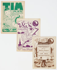 Tim's Official Magazine Group of 6 (Tim Promotions Inc., 1939-41) Condition: Average FN.... (Total: 6 Comic Books)
