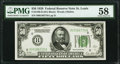 Fr. 2100-H $50 1928 Federal Reserve Note. PMG Choice About Unc 58