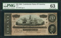Confederate Notes:1864 Issues, T67 $20 1864 PMG Choice Uncirculated 63.. ...