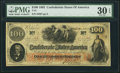 Confederate Notes:1862 Issues, T41 $100 1862 PMG Very Fine 30 EPQ.. ...