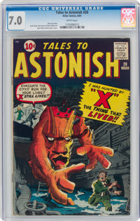 Tales to Astonish #20 (Marvel, 1961) CGC FN/VF 7.0 White pages
