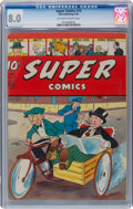 Golden Age (1938-1955):Miscellaneous, Super Comics #73 (Dell, 1944) CGC VF 8.0 Off-white to white pages....