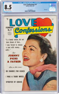 Love Confessions #17 (Quality, 1952) CGC VF+ 8.5 Off-white to white pages