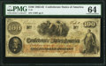 T41 $100 1862 PMG Choice Uncirculated 64