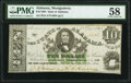 Montgomery, AL- State of Alabama $10 Jan. 1, 1864 Cr. 14 PMG Choice About Unc 58