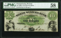 Obsoletes By State:Pennsylvania, Warren, PA- North Western Bank $10 June 9, 1860 PMG Choice About Unc 58.. ...