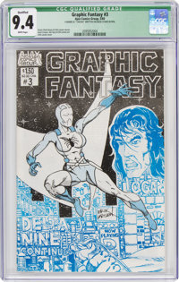Graphic Fantasy #3 Limited Edition 144/500 (Ajax Comics Group, 1983) CGC Qualified NM 9.4 White pages