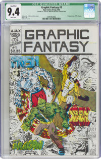Graphic Fantasy #1 Limited Edition #194/200 (Ajax Comics Group, 1982) CGC Qualified NM 9.4 White pages