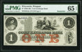 Obsoletes By State:Wisconsin, Waupun, WI- Corn Exchange Bank $1 18__ Remainder PMG Gem Uncirculated 65 EPQ.. ...